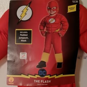 NWT THE FLASH PADDED CHILDS SZ 3-4 COSTUME